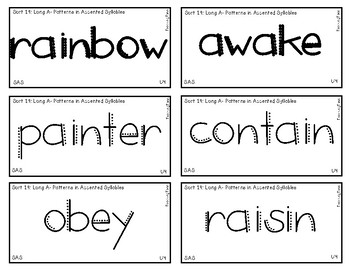 Words Their Way - SAS Sort Words Unit 4