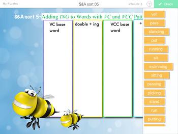 Words Their Way- SYLLABLES & AFFIXES sorts 1-55 iPad STICK AROUND app