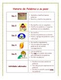 Words Their Way Schedule in Spanish