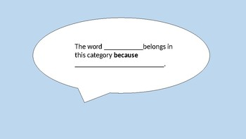 Words Their Way Sentence Frames