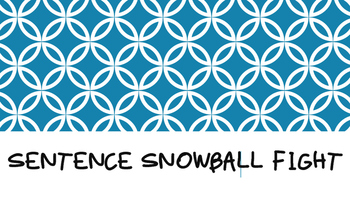 Words Their Way Sentence Snowball Fight