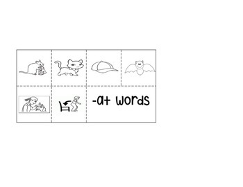 Words Their Way Short Vowel Mystery Words - AT Words