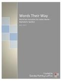 Words Their Way Sort 27 Activities