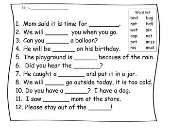 Words Their Way Sort 37 LN Activities