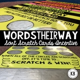 Words Their Way: Sort Scratch Cards Incentive