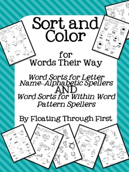 Words Their Way Sort and Color Page Pack