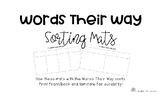 Words Their Way Sorting Mats