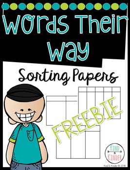 Words Their Way Sorting Sheets