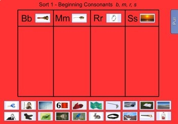 Words Their Way Sorts #1-5 for the Smartboard - Letter Name/Alphabetic FREEBIE