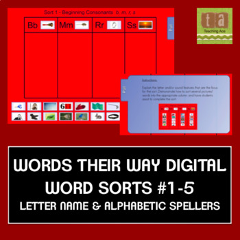 Words Their Way Digital Spelling Sorts #1-5 Letter Name/Alphabetic FREE