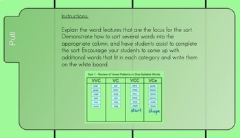 Words Their Way Sorts #1-5 for the Smartboard - Syllables & Affixes FREEBIE