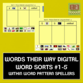 Words Their Way Digital Sorts #1-5 - Within Word Pattern FREE
