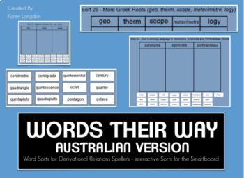 Words Their Way Digital Spelling Sorts - AUSTRALIAN FOUR BOOKS Bundle!