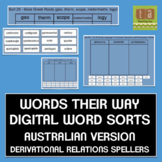 Words Their Way Digital Sorts AUSTRALIAN VERSION - Derivational Relations
