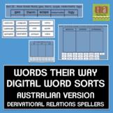 Words Their Way Digital Sorts AUSTRALIAN VERSION - Derivational Relations