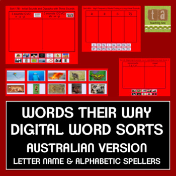 Words Their Way Sorts for Smartboard -AUSTRALIAN VERSION- Letter Name/Alphabetic