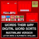 Words Their Way Digital Spelling Sorts - AUSTRALIAN Letter Name/Alphabetic