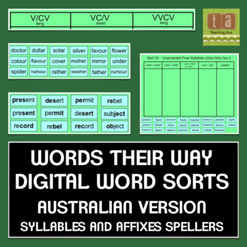 Words Their Way Sorts for Smartboard - AUSTRALIAN VERSION