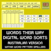 Words Their Way Digital Spelling Sorts -AUSTRALIAN - Within Word Pattern