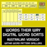 Words Their Way Digital Spelling Sorts -AUSTRALIAN - Within Word Pattern