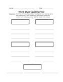 Words Their Way Spelling Assessment Sheet