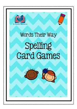 Words Their Way Card Games