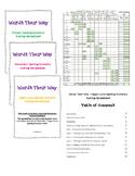Words Their Way - Spelling Inventory Spreadsheet BUNDLE