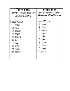 Words Their Way Spelling Lists 1-50 for Within Word