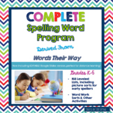 Words Their Way Spelling Lists, Sorts and Activities