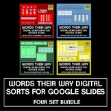 Words Their Way Spelling Sorts for Google Slides - FOUR Se