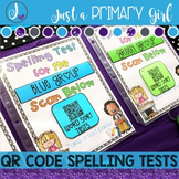 Words Their Way Spelling Tests {QR Codes}