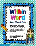 Words Their Way Spelling, Within Word Lists and Sorts
