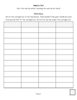 Words Their Way Student Packet