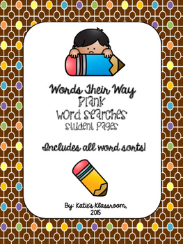 Words Their Way Student Word Searches