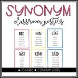 Vocabulary Synonym Posters