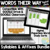 Words Their Way Syllables & Affixes Digital Sorts | Google Slides