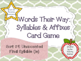 Words Their Way: Syllables & Affixes: Sort 29: Unaccented Final Syllable (le)