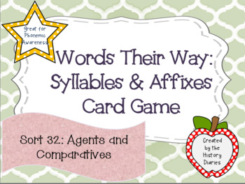 Words Their Way: Syllables & Affixes: Sort 32: Agents and Comparatives