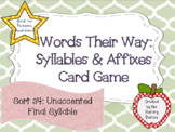 Words Their Way: Syllables & Affixes: Sort 34: Unaccented Final Syllable
