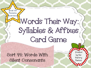 Words Their Way: Syllables & Affixes: Sort 44: Words With Silent Consonants