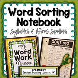 Words Their Way --- Syllables & Affixes Word Sorting Notebook