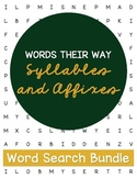 Words Their Way Syllables and Affixes Word Searches