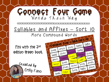 Words Their Way - Syllables and Affixes - Sort 10 Connect Four