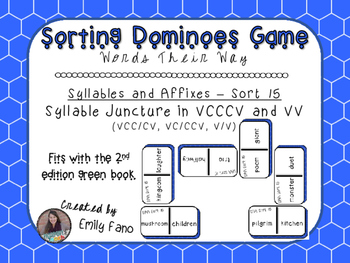 Words Their Way - Syllables and Affixes - Sort 15 Dominoes