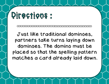 Words Their Way - Syllables and Affixes - Sort 16 Dominoes
