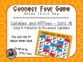 Words Their Way - Syllables and Affixes - Sort 18 Connect Four
