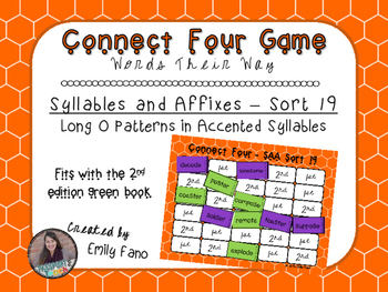 Words Their Way - Syllables and Affixes - Sort 19 Connect Four
