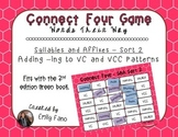 Words Their Way - Syllables and Affixes - Sort 2 Connect Four
