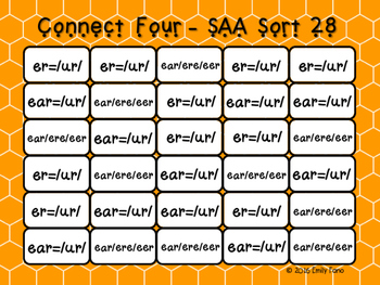 Words Their Way - Syllables and Affixes - Sort 28 Connect Four