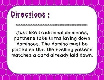 Words Their Way - Syllables and Affixes - Sort 3 Dominoes